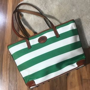 Dooney & Bourke Striped Shopper Tote NWT $228
